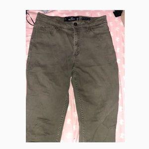 Olive green hollister skinny jeans